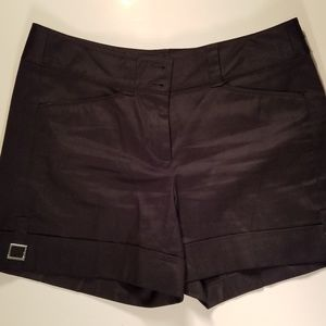 WHBM Dressy Flat Front Shorts with Cuff Buckle 1D